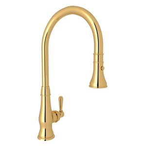 ROHL Italian Patrizia PullDown Kitchen Faucet_Italian Brass