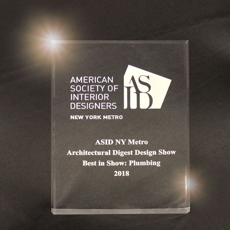 "ASID NY Chapter - Architectural Digest Design Show - ""Best Plumbing"" Award"