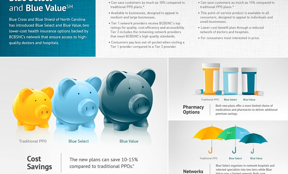 Blue Value Blue Select Infographic