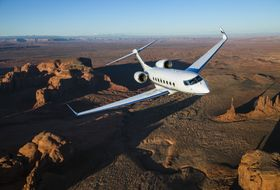 Gulfstream G650ER Aerial 8