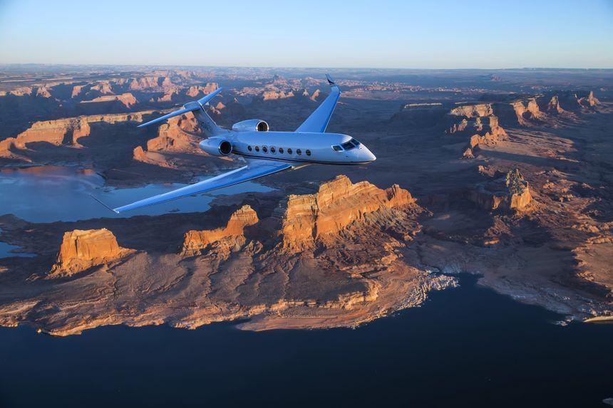 Gulfstream G650ER Aerial 9