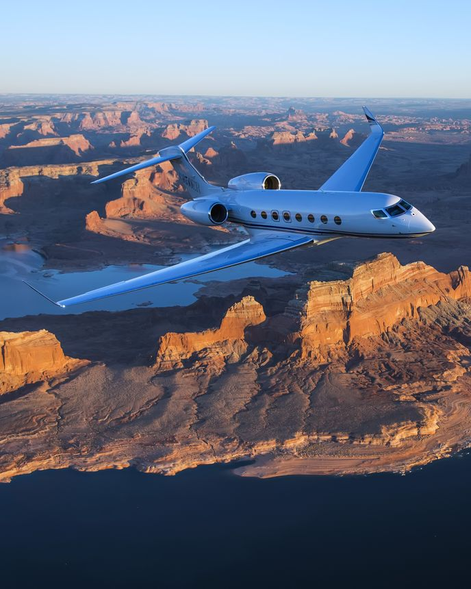 Gulfstream G650ER Aerial 4