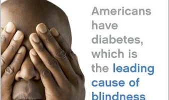 Diabetes and blindness infographic