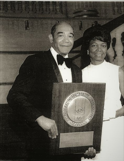 Dr and Mrs Poston, AOA Optomestrist of the Year 1972