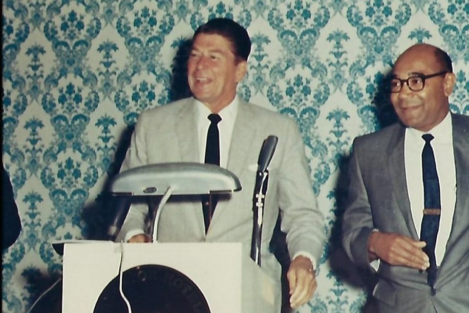 Dr. Poston with Governor Regan (FB)