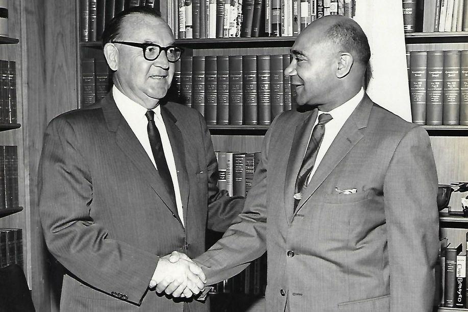 Dr. Poston with Governor Brown (FB)