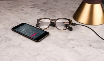 Level smart glasses nightstand with app
