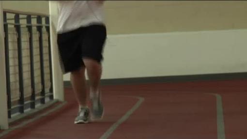 Jogging on inside track QT