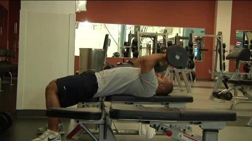 Resistence training at gym QT