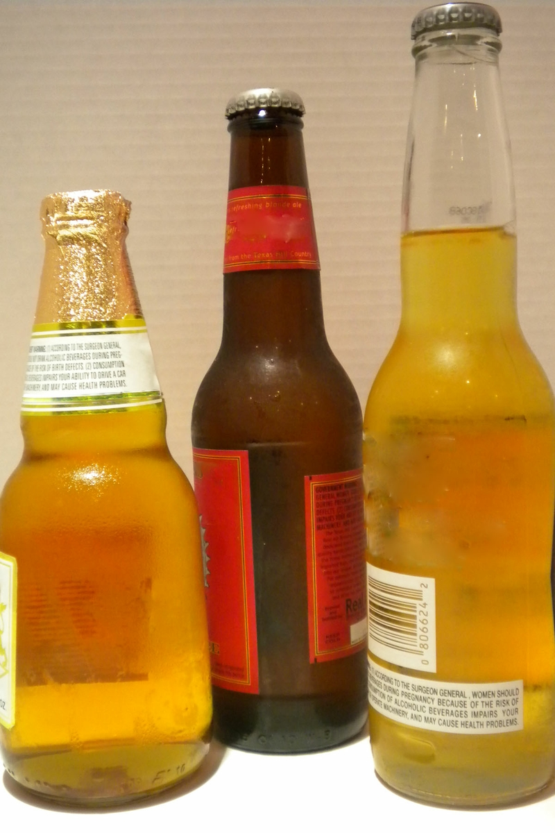 Beer in bottles