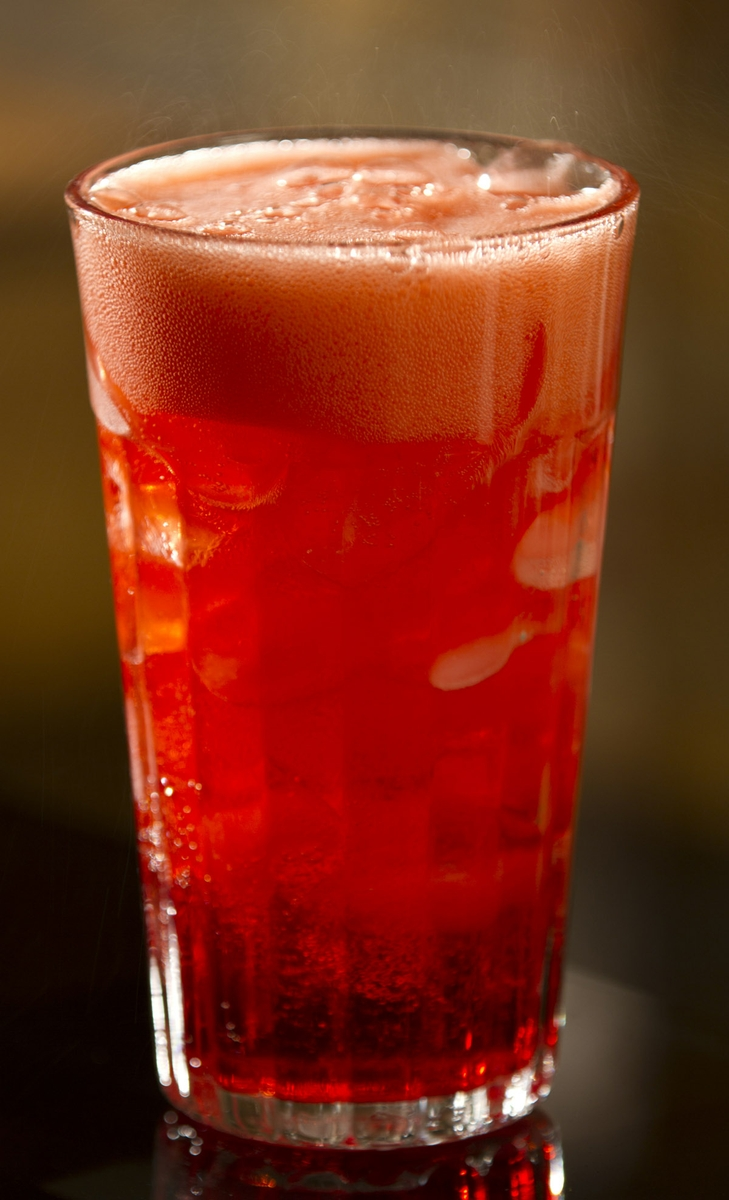 Soft Drink red cola in Glass