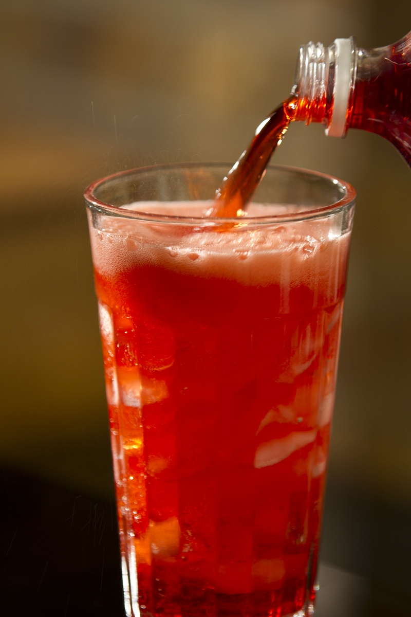 Soft Drink - red cola, Pouring with Bottle 2