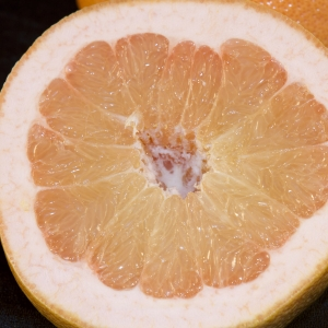 Grapefruit - closeup on half