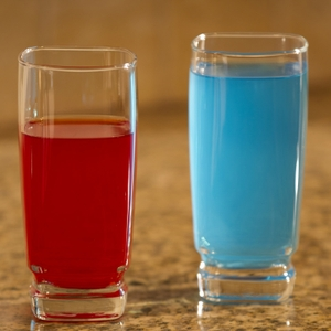 Sports Drink red and blue
