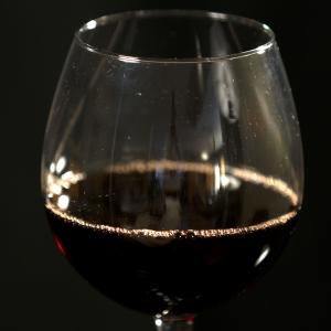 Wine - Red in Glass closeup horizontal