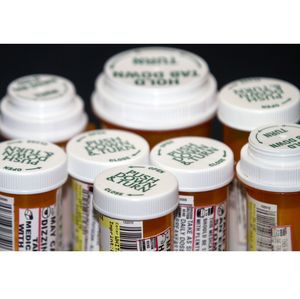 Prescription Drug Bottles Closeup