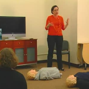 CPR training class at AHA