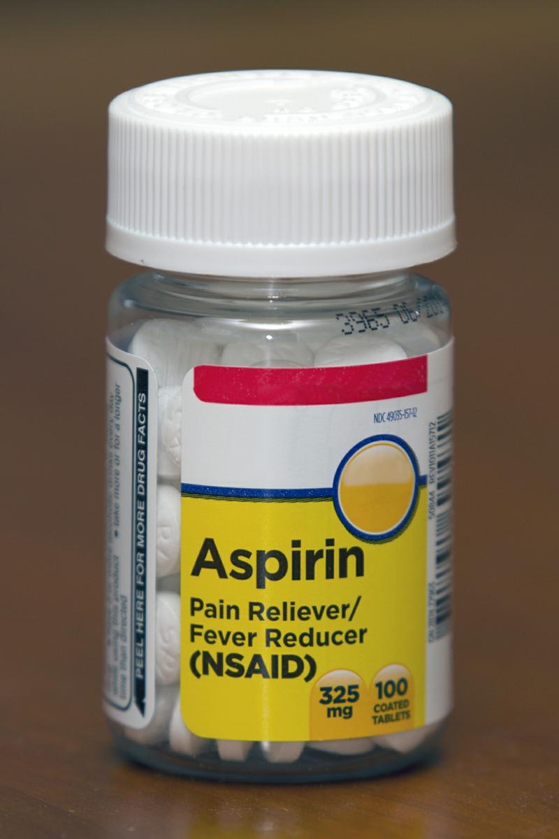 Aspirin Bottle 325 mg Dose