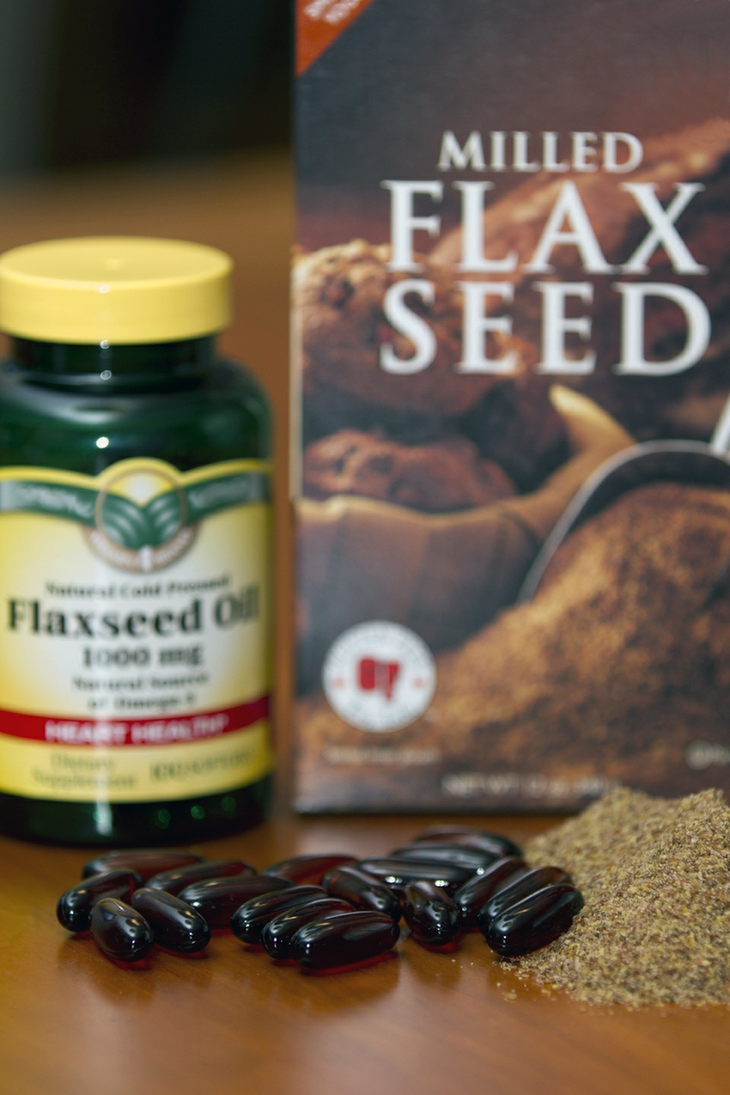 Flaxseed Oil Caplets and Milled Flaxseed