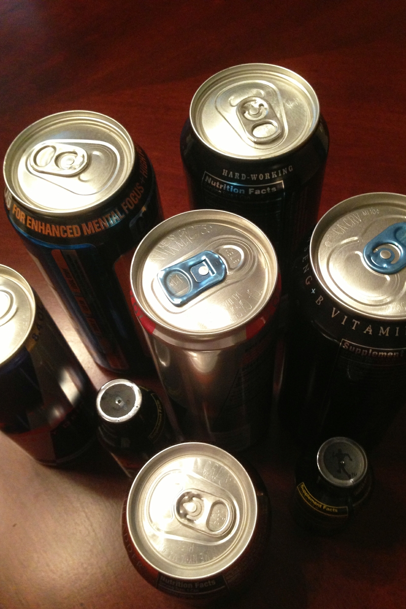 Energy Drinks - overhead