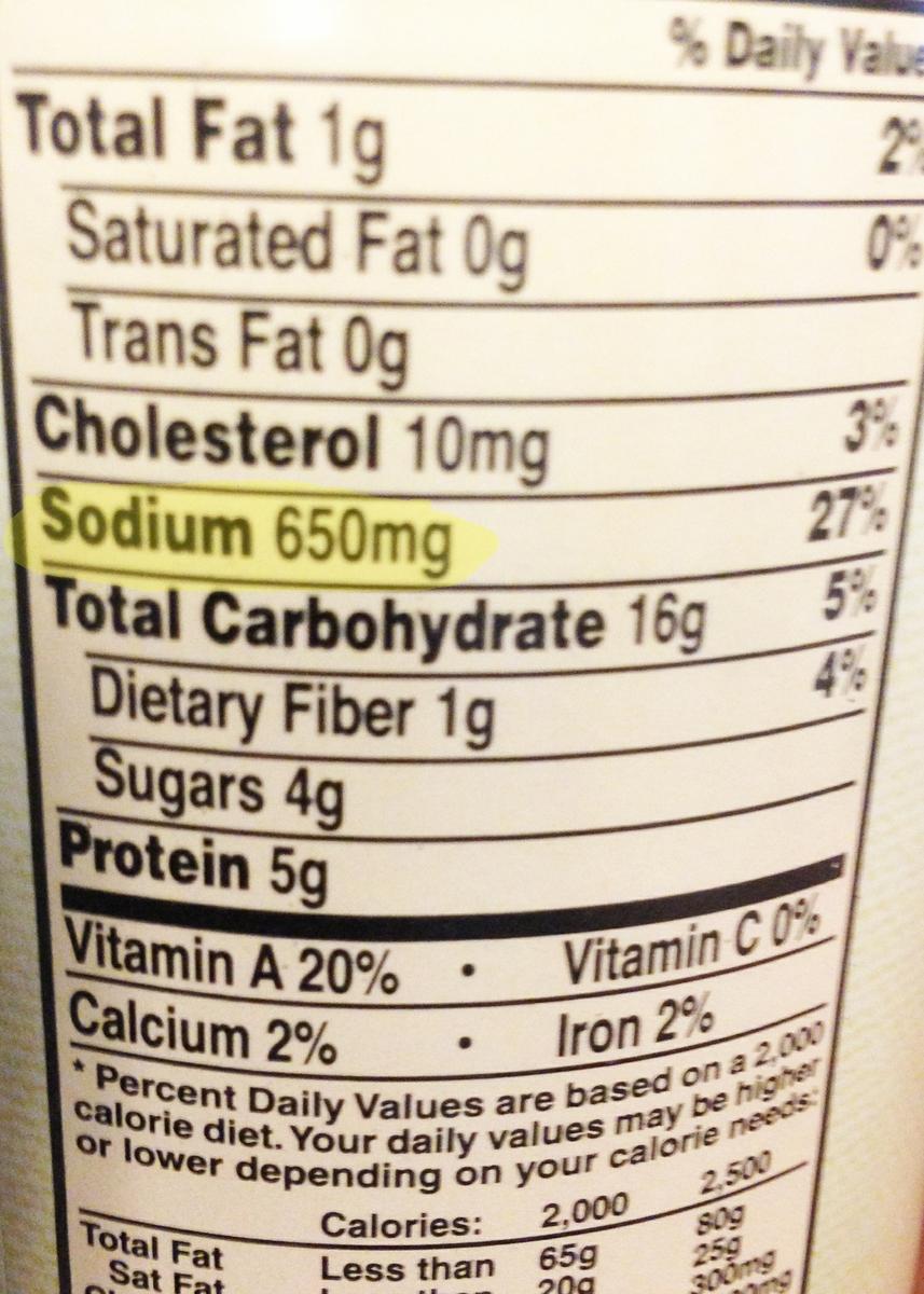 Sodium label