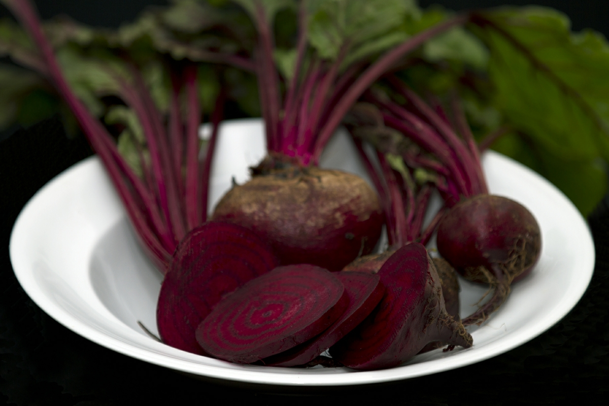 beets with one sliced