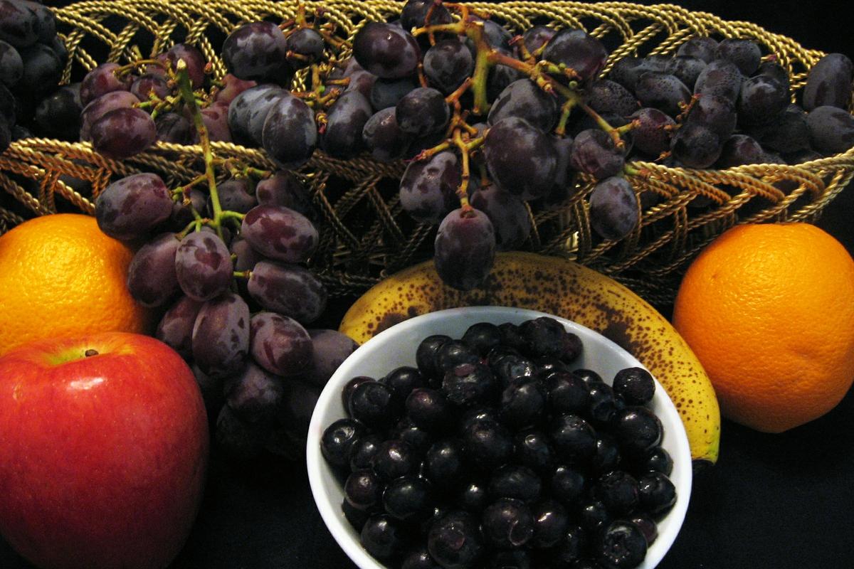 Fruit - grapes- blueberries