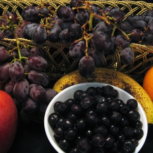 Fruit - grapes- blueberries