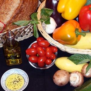Mediterranean Diet foods - Horzontal