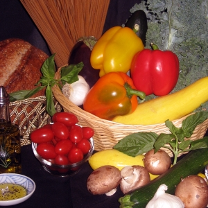 Mediterranean Diet foods - vertical
