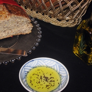 Olive oil and whole grain bread