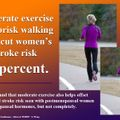 Moderate exercise cuts women's stroke risk, helps offset increase risk from hormone therapy