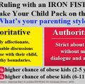 Ruling with an iron fist could make your child pack on pounds