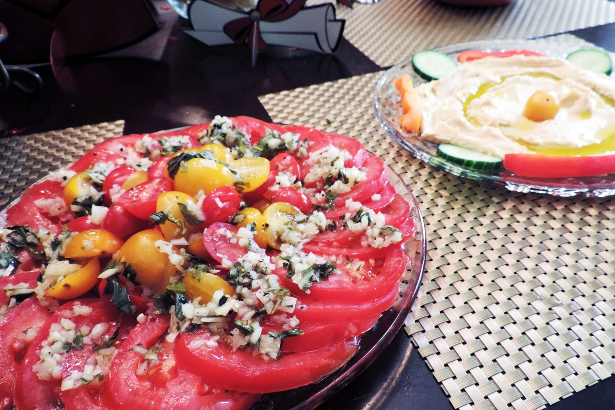 Tomatos with Goat Cheese