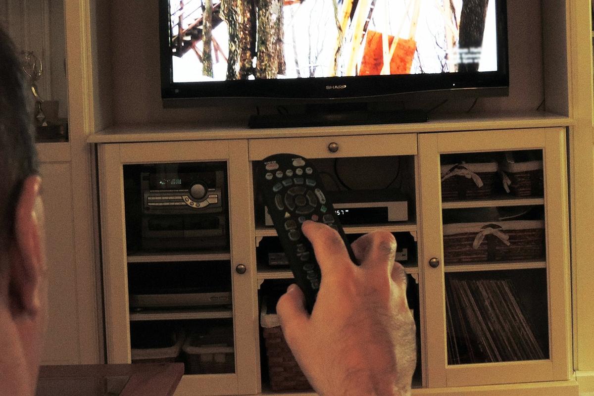 TV watching - man