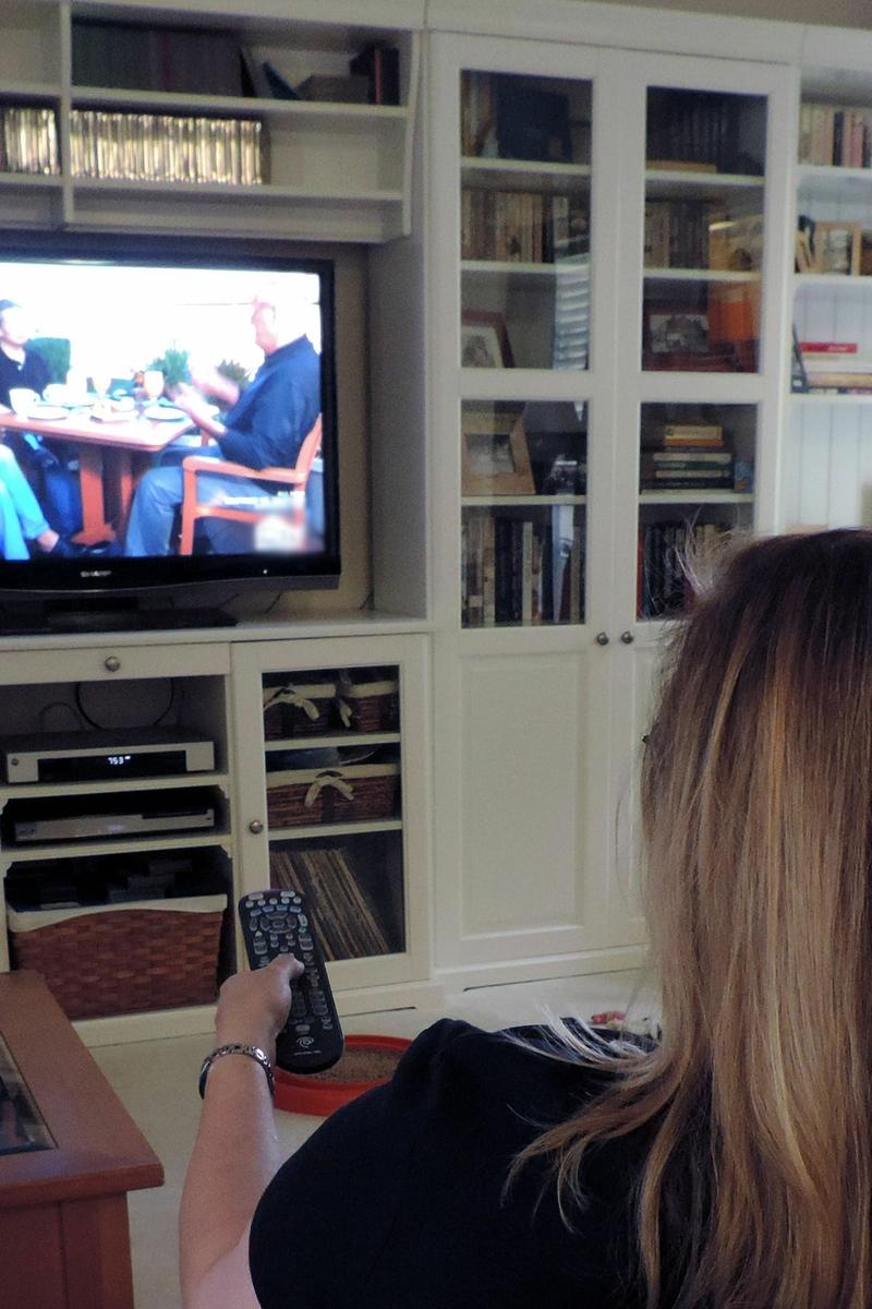 TV watching - woman