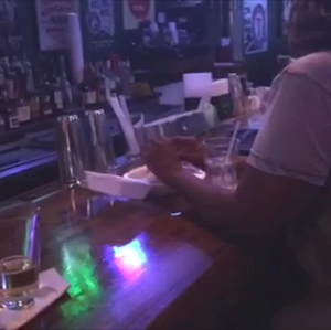e-cigarette vaping -  smoking in a bar