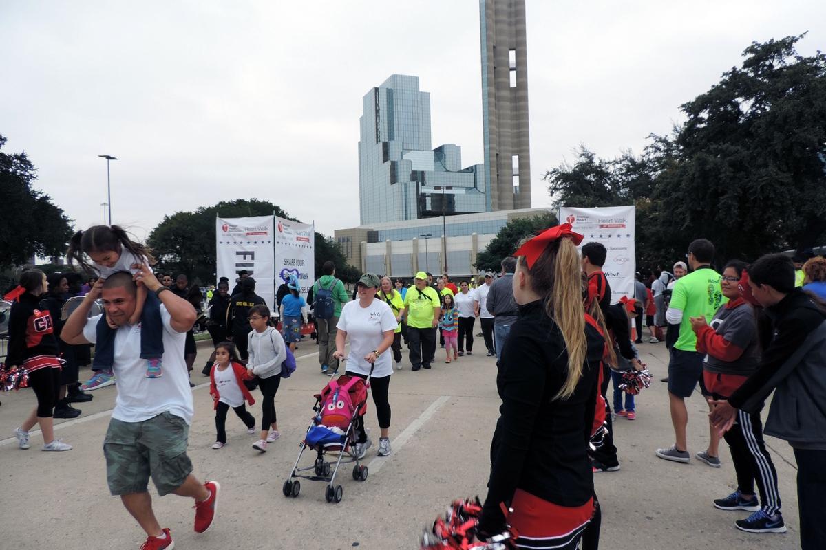 Heart Walk finish line