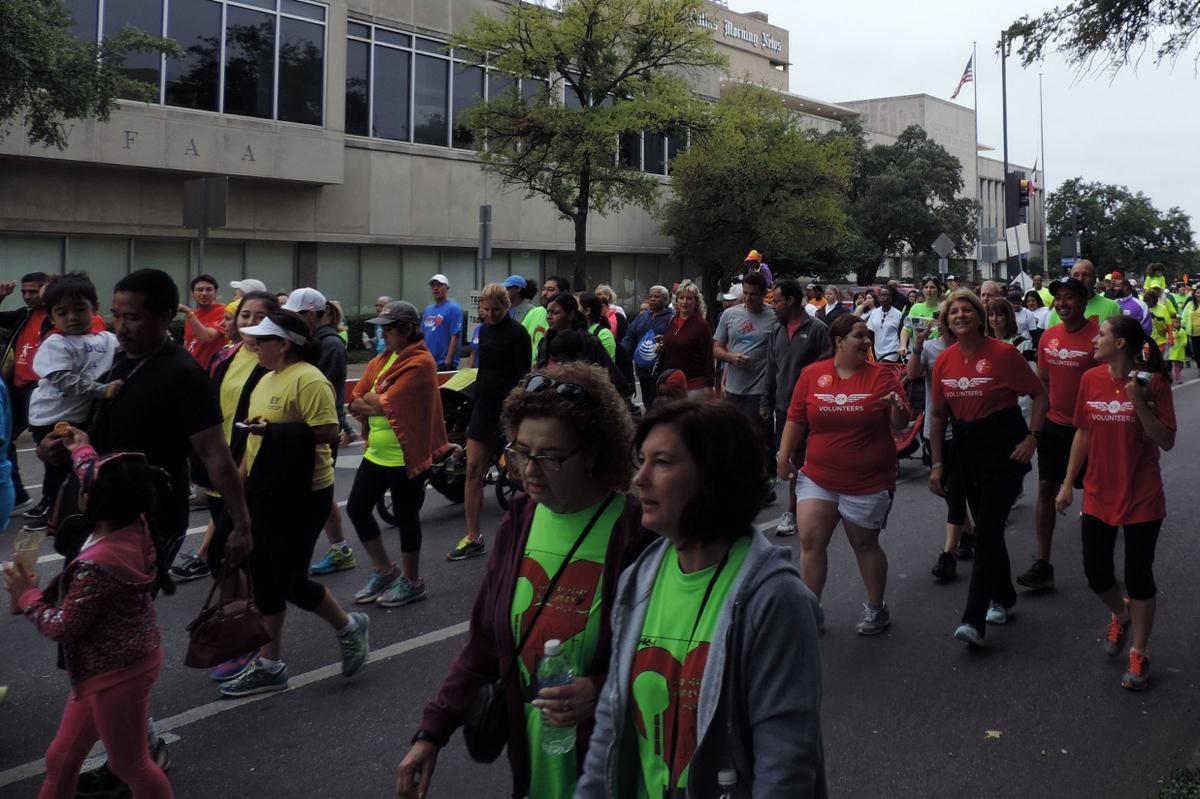 Heart Walk group walkers