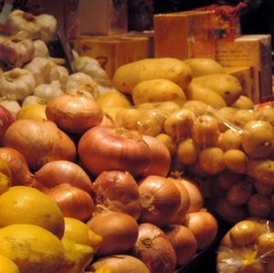 Garlic, onions and potatoes