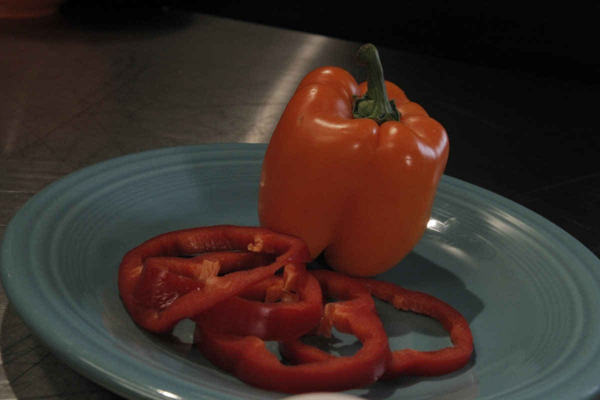 Bell peppers - whole and sliced
