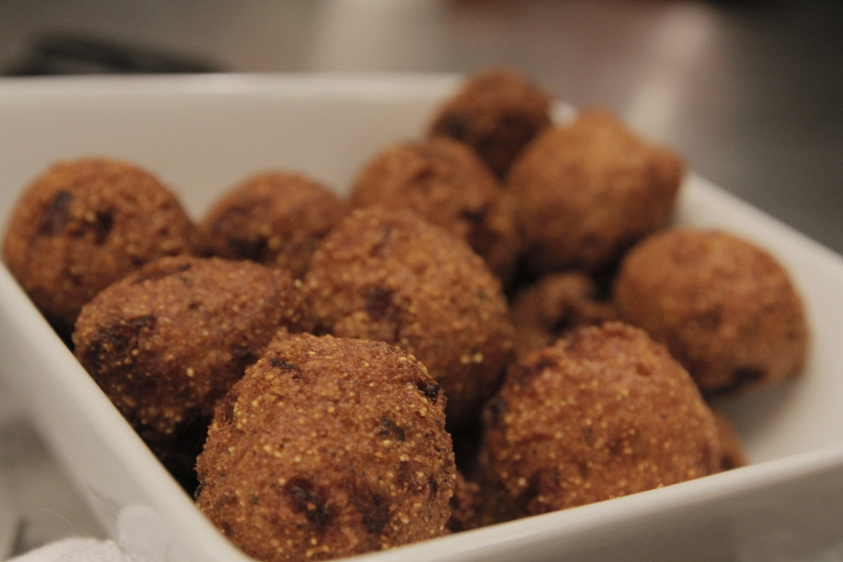 Hushpuppies in a bowl
