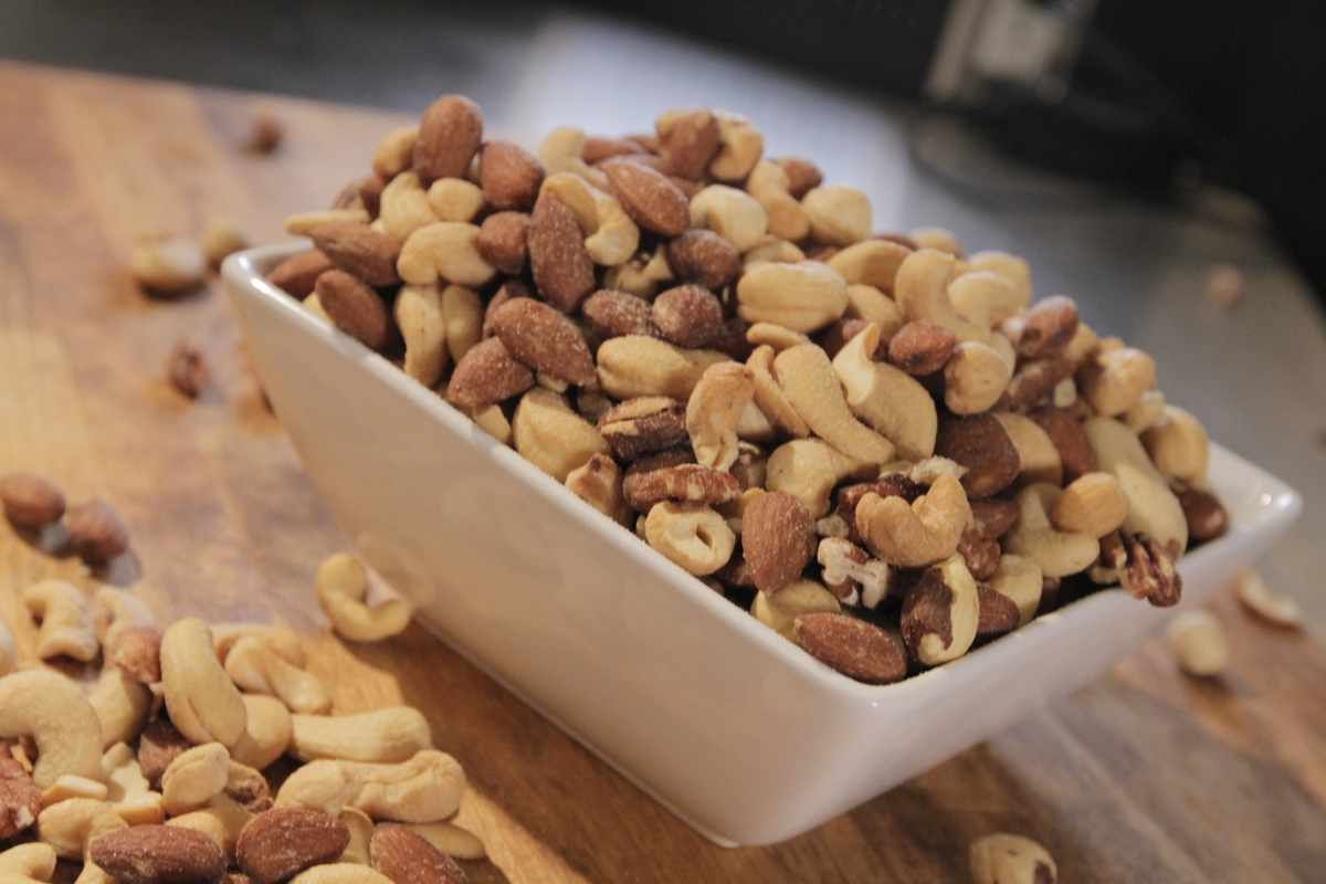 Nuts (mixed) in a bowl