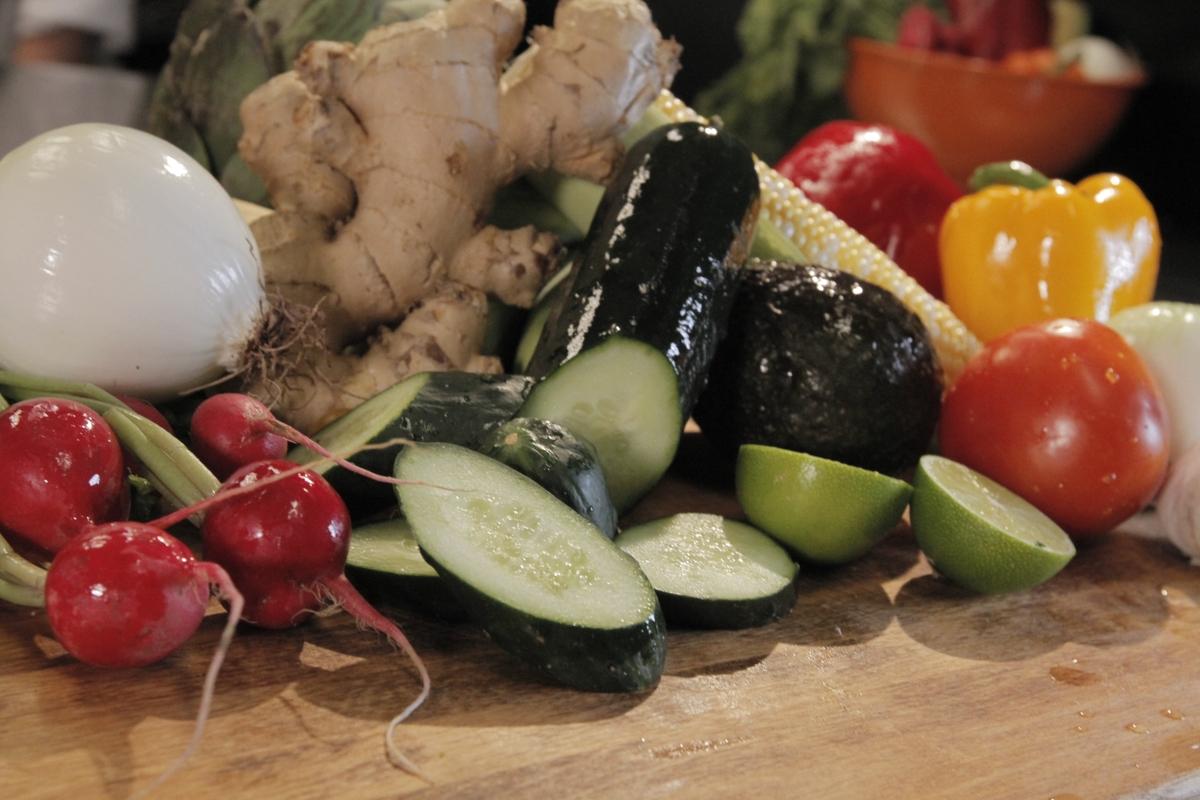 Fresh vegetables close up