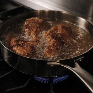 Chicken thighs - fried in skillet