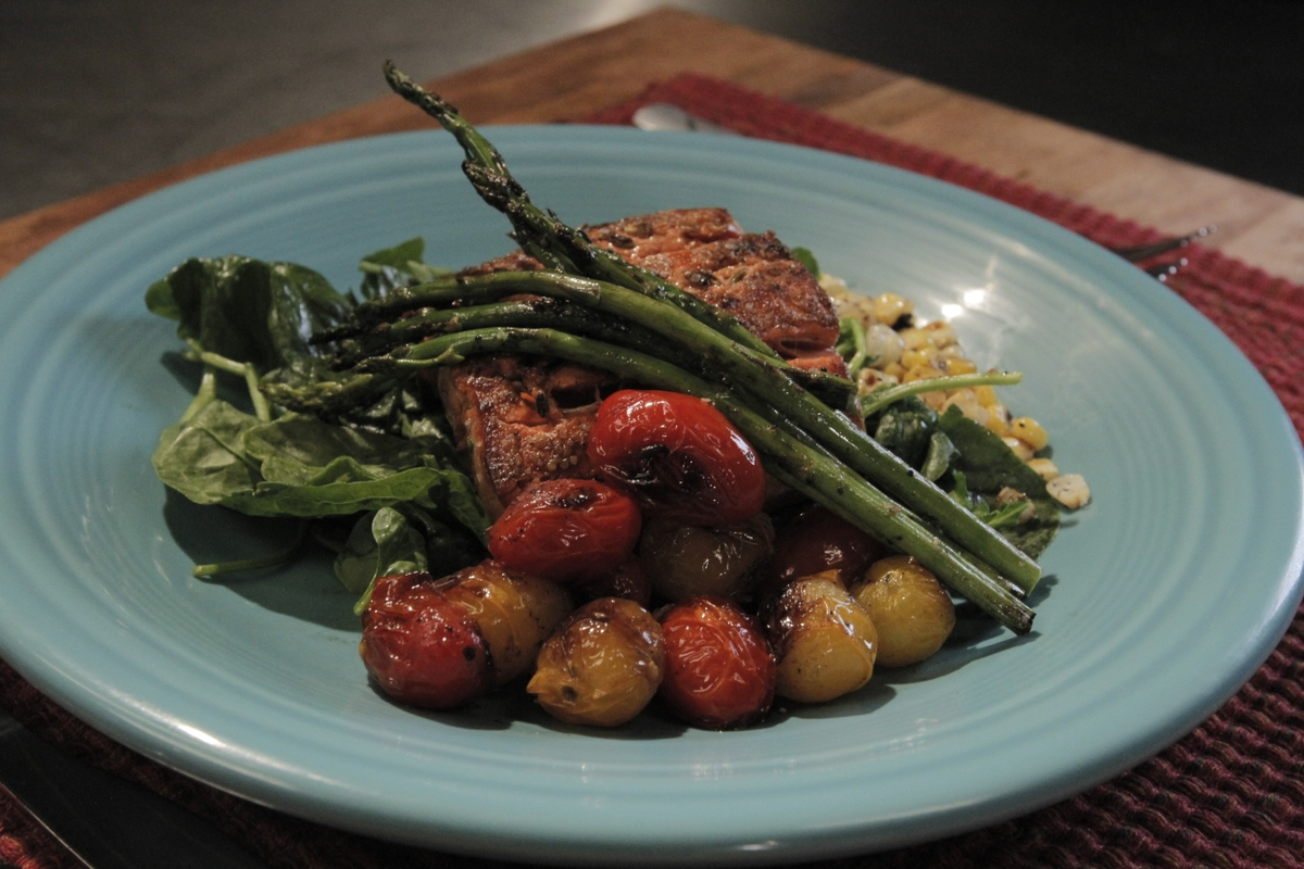 Salmon dinner - healthy