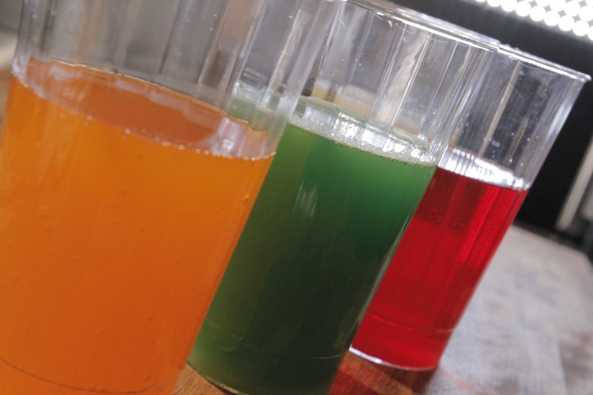 Sports drink - orange green red
