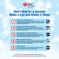 Avoiding a Holiday Heart Attack 5 Tips Infographic