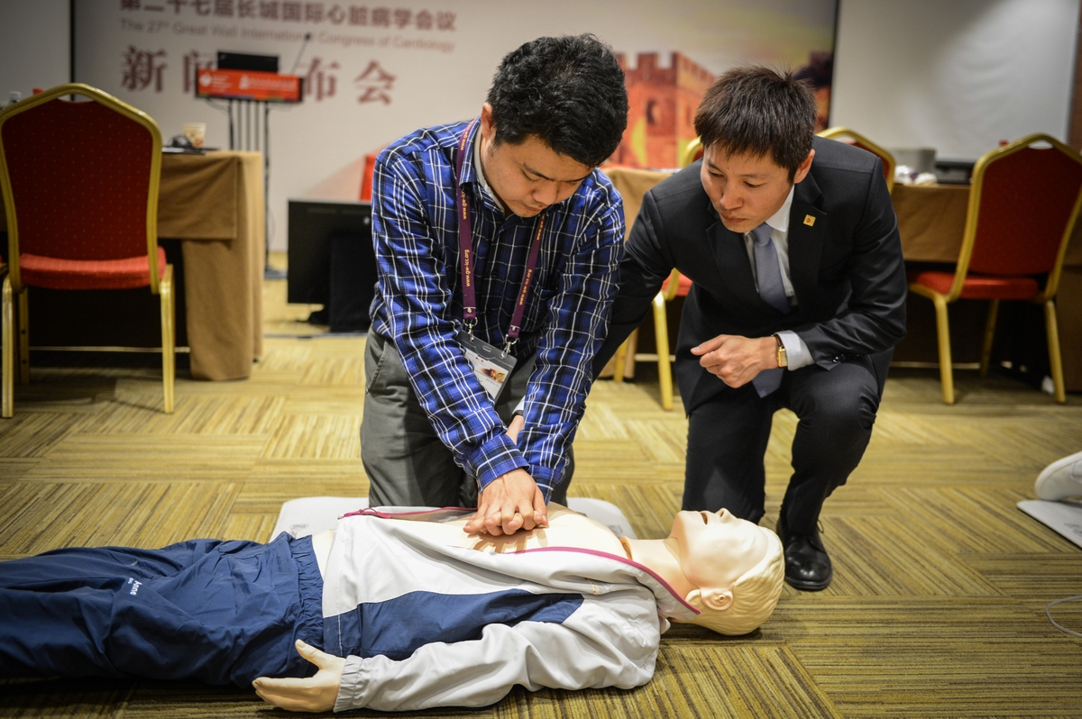 CPR training on site