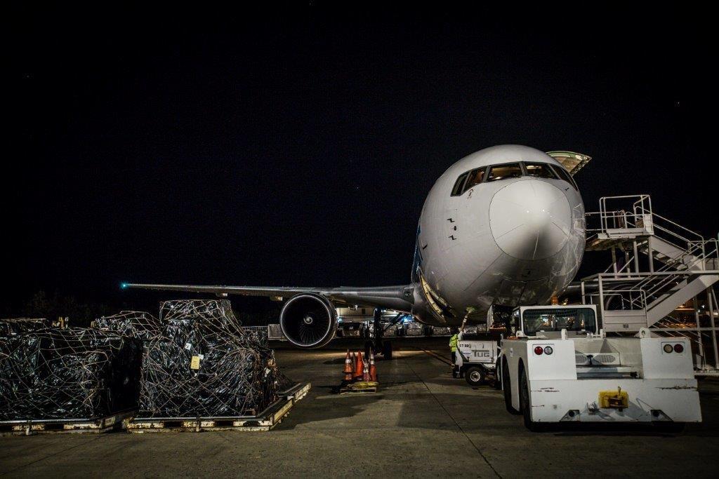 Amerijet International Airplane with supplies